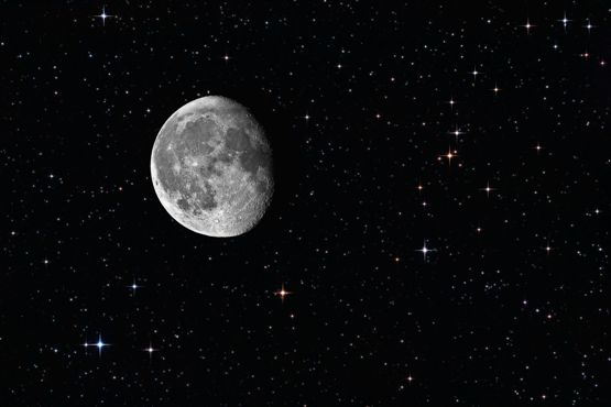 The moon and stars finding hidden treasure